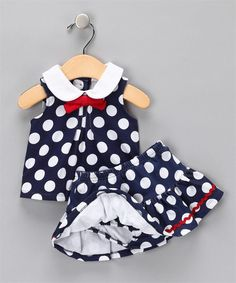 Vitamins Baby 2-Piece Skort Set Polka Dot | Vitamins Baby Clothes | New Baby Clothes | Girls Baby Clothes | Infant Clothes | Baby Clothing | New Born Baby Clothing | Designer Baby Clothes | Cute Baby Clothing.