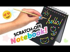 DIY Scratch-Off Rainbow Notebook! DIY Weird Back To School Supplies!! - YouTube I'm gonna do this!! So amazing! I will post a pin on Made by me so you can see how it looks!