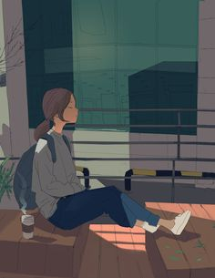 Shared by Fujo~. Find images and videos about girl, art and anime on We Heart It - the app to get lost in what you love. Art Anime Fille, Anime Art Girl, Cartoon Kunst, Cartoon Art, Art And Illustration, Illustrations, Aesthetic Art, Aesthetic Anime, Character Art