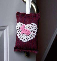 Pink Bunny Door Hanger Pillow Little Rabbit Christmas