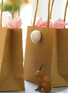 easter gift bags diy cottontail from living at home magz