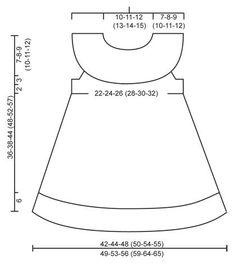 Little Hedda / DROPS Children 26-14 - El conjunto se compone de: Vestido de punto DROPS con borde de calados y canesú redondo en