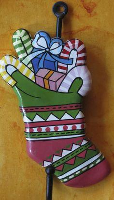 christmas themed wall hooks