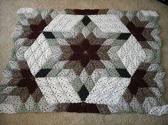 Crochet blanket that looks like quilt.