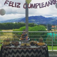 mesa de postres cumpleaños  #aquí es todorico