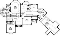 Second Floor Plan of Traditional   House Plan 94172