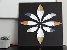 Remade: Feather Party Decor to DIY Art   Made + Remade