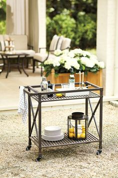 Love this bar cart from Ballard Designs!