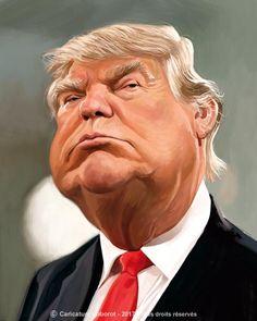Caricatura del actual presidente de los EEUU, Donald Trump, realizada por el artista Jean-Marc Borot.     Donald Trump por Jean-Marc Borot ...