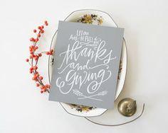 *Thanks & Giving Print #lindsaylettersshop