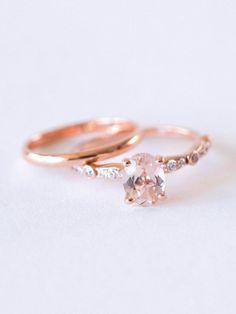 Morganite Rose Gold Engagement Ring on /CVBrides/ via /aislesociety/