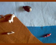 Biome Felt Mat - Montessori - Air, Land, Water - Animals, Plants - Small - Shipping Included