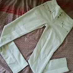 "Light Gray Denim Jean Used Light gray denim skinny jean by Wax Jeans. High waist, 30"" inseam. Great condition! Wax Jeans  Pants Skinny"
