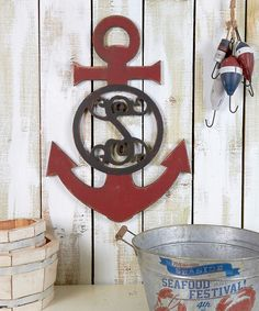 Look at this Unfinished Anchor Initial Vine Font Wall Art on #zulily today!