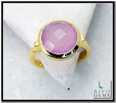 Rose Quartz Gemstone 18k Gold Plating Cameo Ring Sz 8 Gprroq8-6830 http://www.riyogems.com