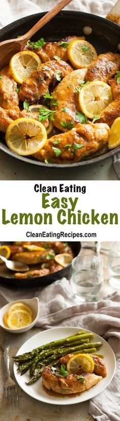 Clean Eating Easy Lemon Chicken Recipe