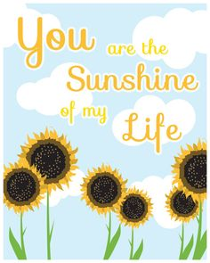 #flat #design #poster: You are the Sunshine of my Life illustration di TheBellaPrintShop