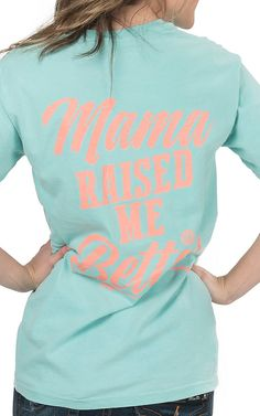 Girlie Girl Originals Women's Chalky Mint Mama Raised Sleeve Tee | Cavender's
