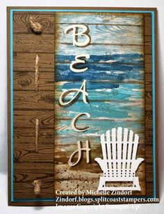 Beach Lover | Waterfront, Hardwood, Brushwork Alphabet, Seasonal Layers thinlits