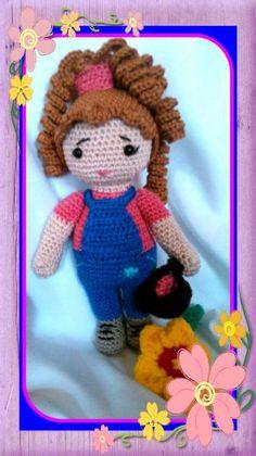 Mein erstes Püppchen aus 100% Baumwolle  zu verkaufen  https://www.facebook.com/pages/Marions-Amigurumis/746124262129909?ref=hl