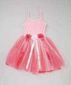Pink Rosette Tutu Dress - Toddler & Girls