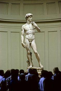 Estatua de mármol original del David de Micelangelo, Galeria della Accademia, Florencia, Florencia, Toscana, Italia, Europa