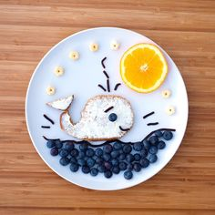 Snacking should always be a whale of a time! #PlumOrganics #FoodArt #Shredz…