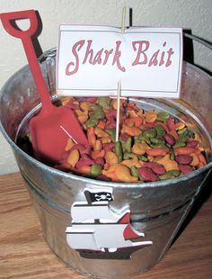 One of the pirate party snacks.