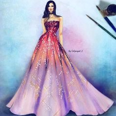 ohhhhhh my goodness this is so pretty I wish I could draw like this mostly the sparkles