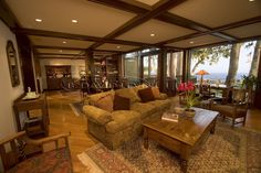 Santa Barbara house, great room.