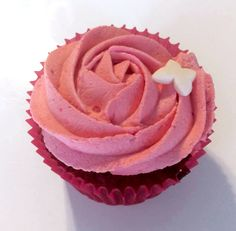 Cupcake fruits rouge, chantilly vanille