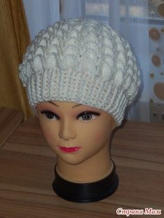 cap made of shells. Discussion on LiveInternet - Russian Service Online Diaries Scarf Hat, Beanie, Knit Crochet, Crochet Hats, Chunky Scarves, Winter Trends, Kids Hats, Beret, Baby Hats