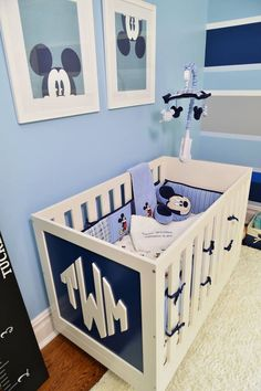 Crib Monogram and Disney Mobile #DIY