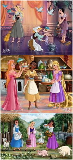 WORK OF PRINCESSES by FERNL.deviantart.com on @deviantART
