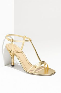 Gucci gold kitten heels for 70% off!  #amyesperstyling