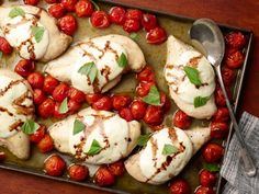 Get Sheet Pan Caprese Chicken Recipe from Food Network