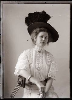 These female portraits made by an itinerant photographer named Hugh Mangum, who rode the trains to the small towns of North Carolina, Virginia and West Virginia. 1909 - 1912