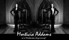 Angelica Houston and Christina Ricci as Morticia Addams