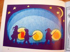 Lantern Children, Steiner/Waldorf window transparency