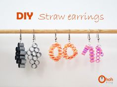 DIY Straw earrings