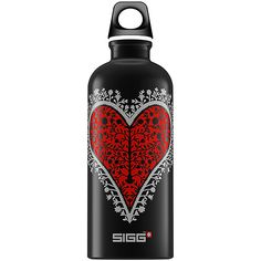 Take a look at this Black Heart Water Bottle by SIGG on Sigg Water Bottle, Sigg Bottles, Save Our Earth, Road Trip Adventure, Black Heart, Eco Friendly, Pure Products, My Love, Design
