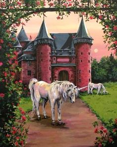 Unicorns - I like that the castle looks like Dream Castle from the original My Little Pony