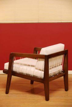 Edward Wormley; Oak 'Precedent' Lounge Chair for Drexel, 1947.
