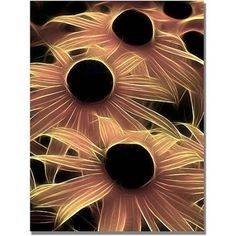 Trademark Art Black Eyed Susans Abstract Canvas Wall Art by Kathie McCurdy, Size: 24 x 32, Multicolor