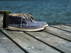 Timberland Men's Earthkeepers® Hookset Handcrafted Fabric Chukka - Style: 5105R // Lightweight, flexible and ready to wrap your feet in breathable comfort, this shoe is an eco-conscious footwear choice for spring and summer wear.
