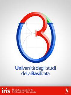Iris è il logo presentato da Youdede  in occasione del trentennale dell'Università degli Studi della Basilicata.     Il logo vincitore è questo http://www.unibas.it/images/logo30.jpg  realizzato da Telesca Luciana