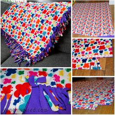 how to make a fleece blanket without a sewing machine