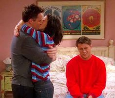 <0>When Joey promised not to tell anyone that Chandler and Monica were sleeping together.