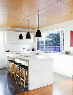 COOGEE HOUSE | alwill  #servingwindow #pendant #marble #interiors #kitchen #wood