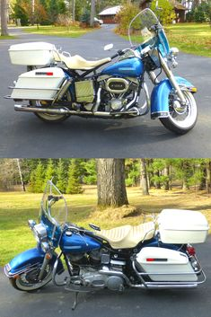 Harley Davidson FLH, Electra Glide. The reason for selling my beloved Harley Davidson is for the fact that I am too old to ride it. I have a bad back and the bike has just gotten too heave for me. In the last 6 years I only rode about 200 miles on it. Not driven for about 4 years now.   I changed the oil every 500 miles, or every 6 months, whatever came first. Usually the 6 months came first, as there where many years when I only used it 3 or 4 times a year during our short riding season.